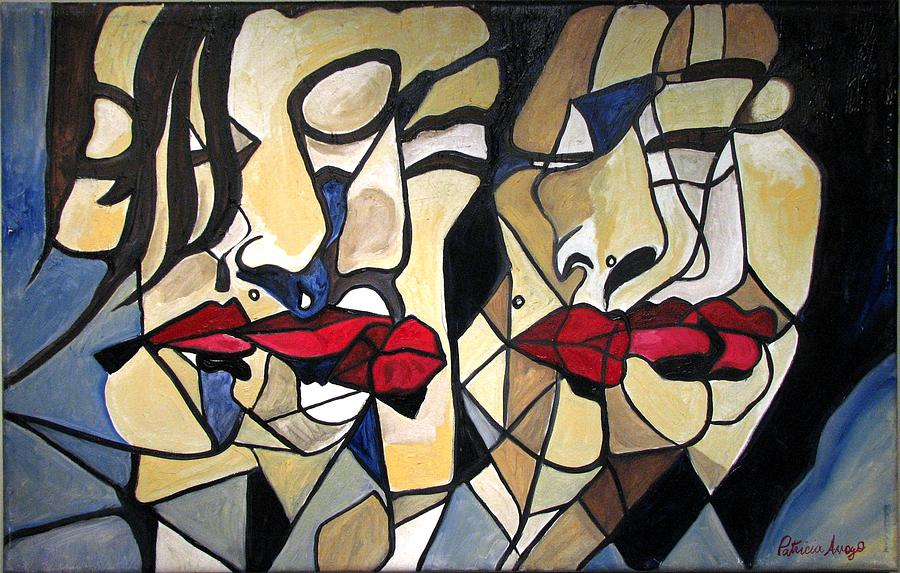 Abstract Painting - She Had Red Lips by Patricia Arroyo