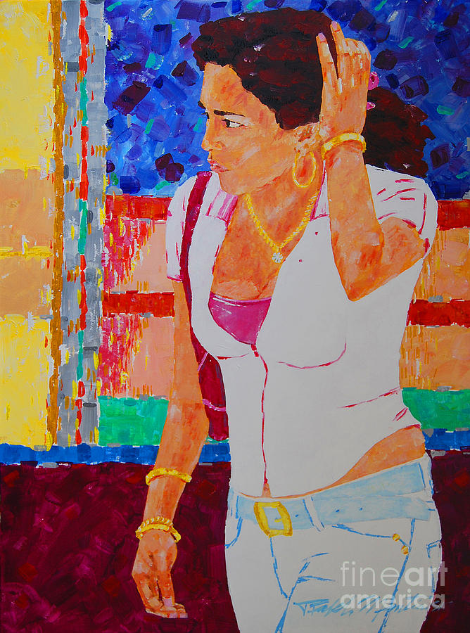 Figurative Painting - She Has Diamonds by Art Mantia