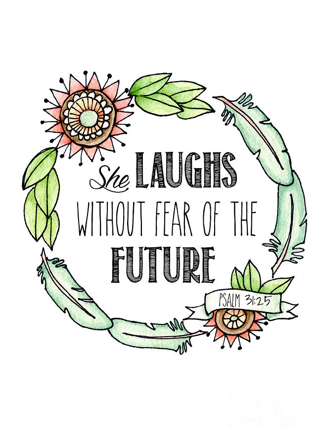She Laughs Without Fear Of The Future is a painting by Jenny Hall ...