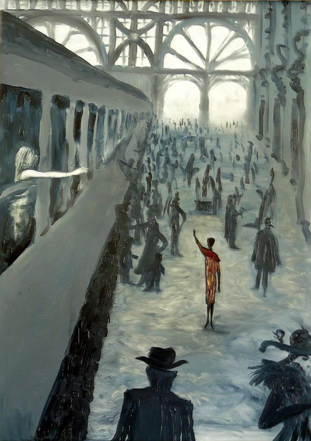 Surrealist Painting - She Let Me Go by Zsuzsa Sedah Mathe