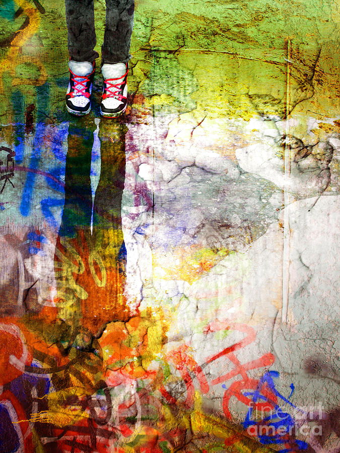 Shoes Photograph - She Lives In A Box Of Paint by Tara Turner