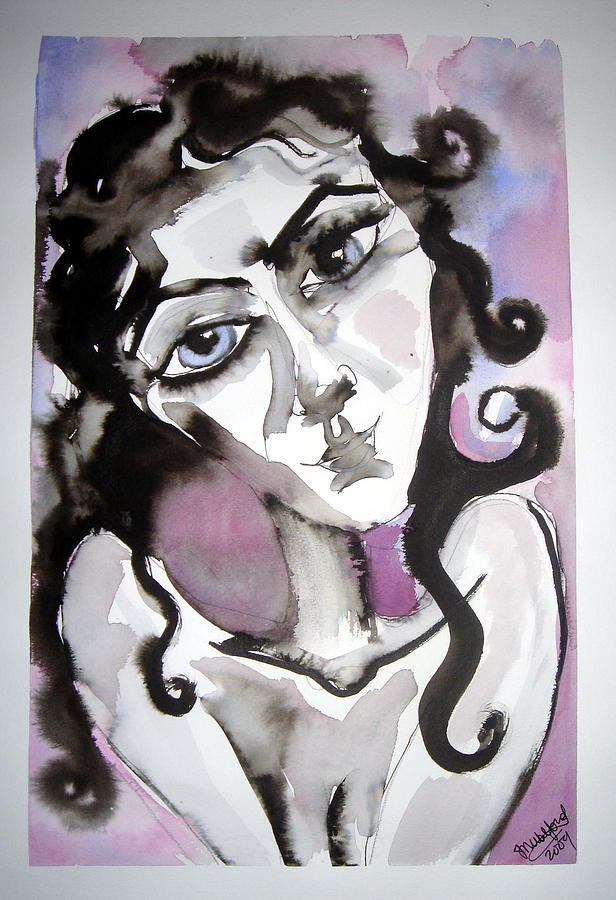 Portrait Painting - She only hopes... by Jenni Walford