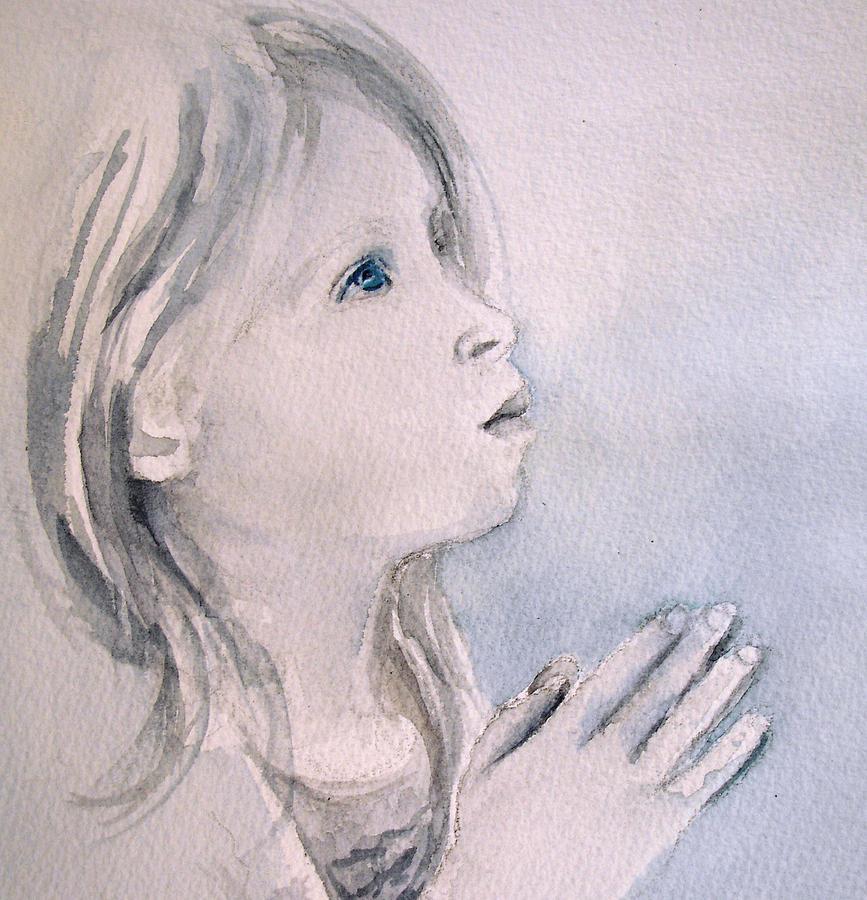 Pray Painting - She Prays by Allison Ashton