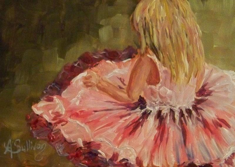 Girl Painting - She Twirls by Angela Sullivan