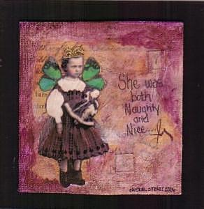 Vintage Mixed Media - She Was Both Naughty And Nice by Cheryl Strait