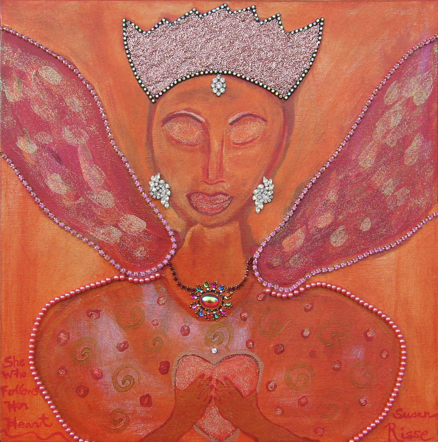 Angel Painting - She Who Follows Her Heart by Susan Risse