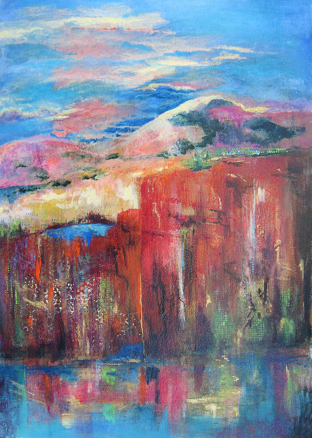 Abstract Landscape Painting - Shear Imagination by Vicki Brevell