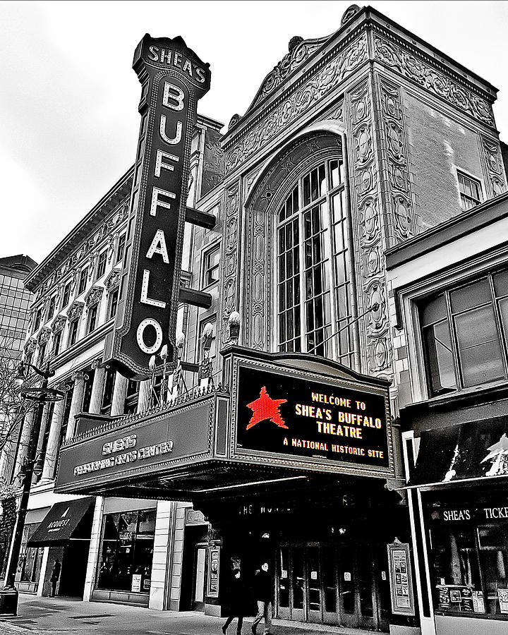 History Photograph - Sheas Buffalo Theater by Phil Pantano