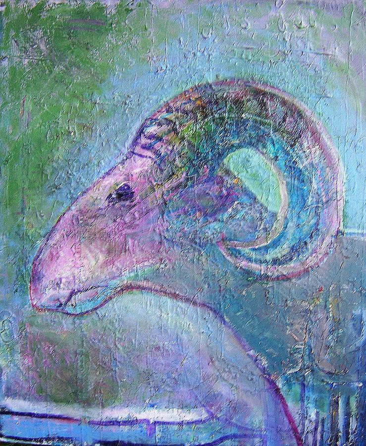 Sheep Painting by Dave Kwinter