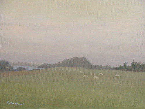 Sheep Painting - Sheep In The Fog by Thaw Malin III