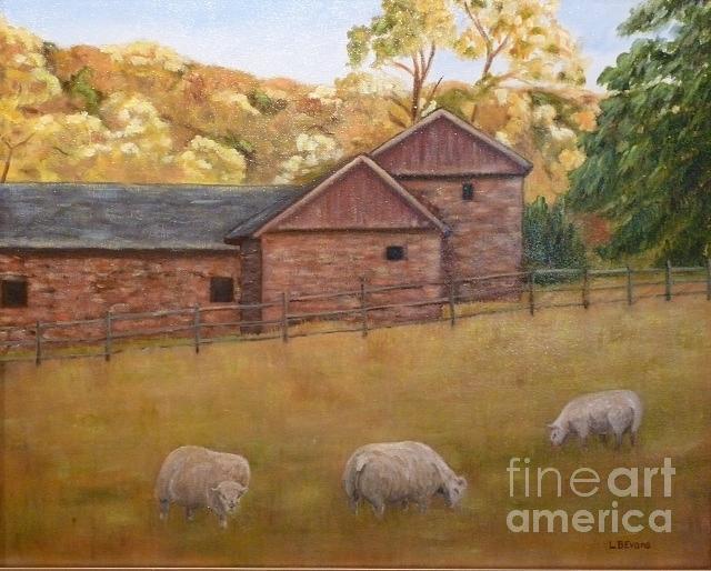 Sheep in the Meadow by Lynda Evans