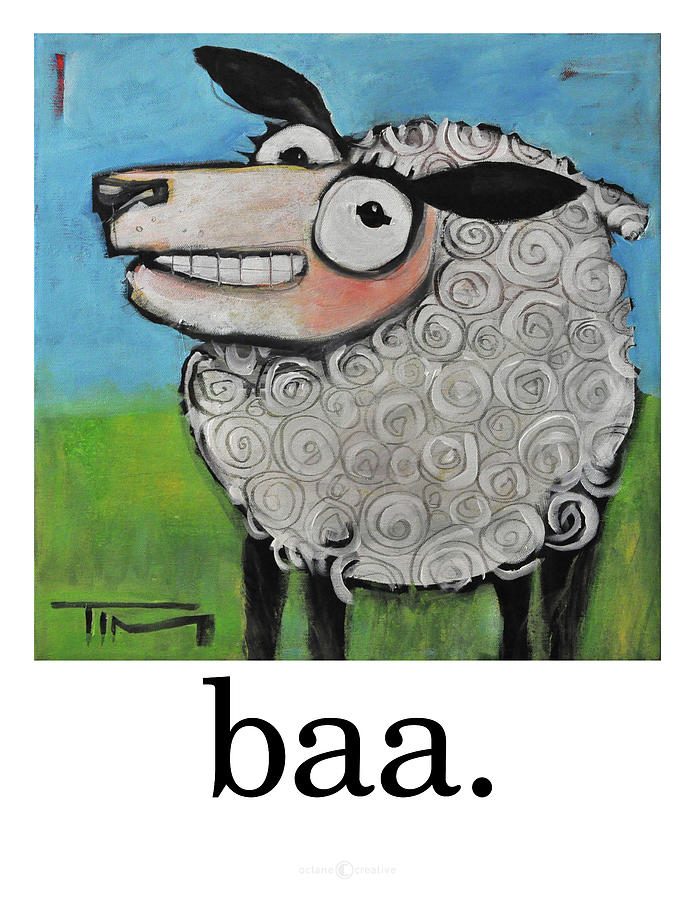 Sheep Painting - Sheep Poster by Tim Nyberg