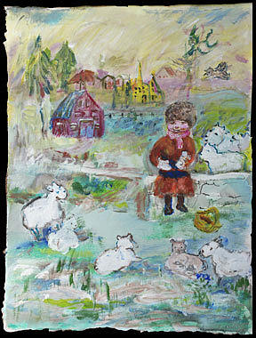 Sheep talk by Claremaria Vrindaji Bowman