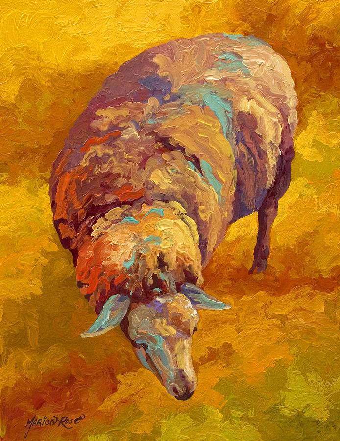 Llama Painting - Sheepish by Marion Rose