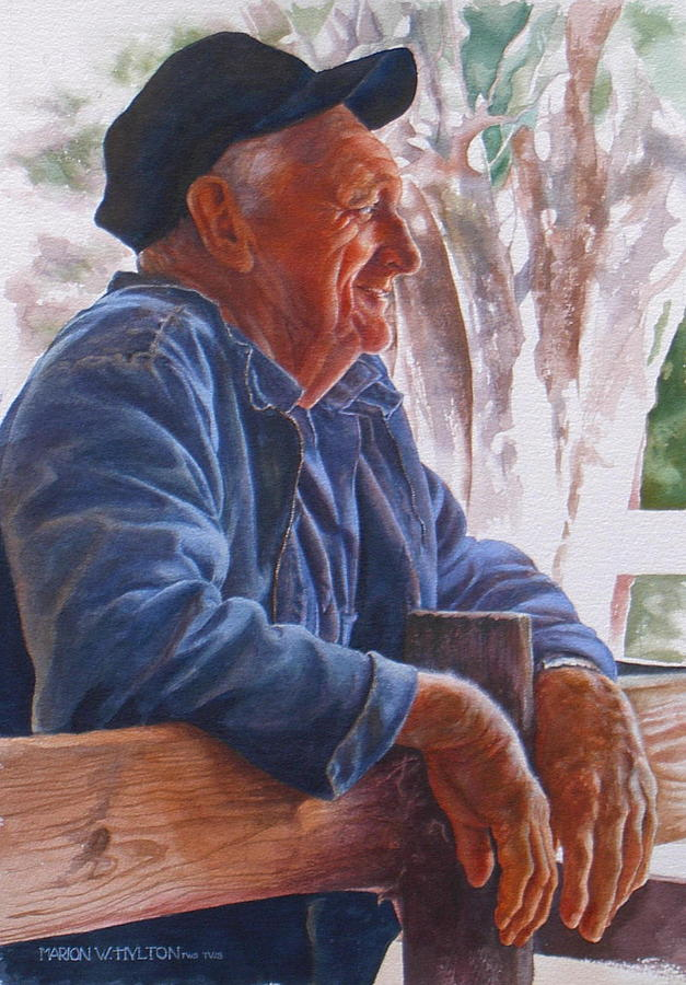 Rancher Painting - Sheepman by Marion  Hylton