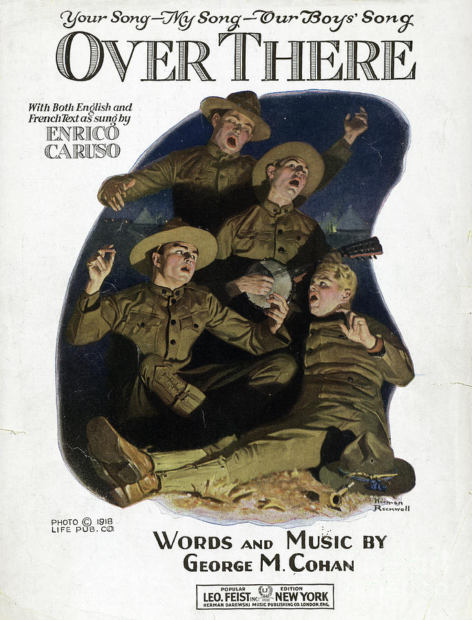 1917 Drawing - Sheet Music Cover, 1918 by Norman Rockwell