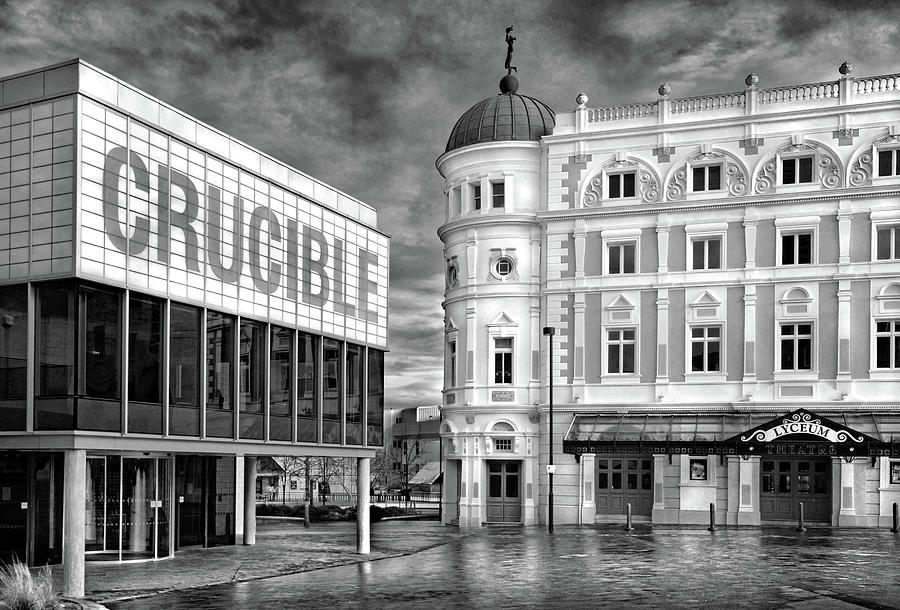 BuildingArchitecture Photography Print The Crucible Theatre Sheffield