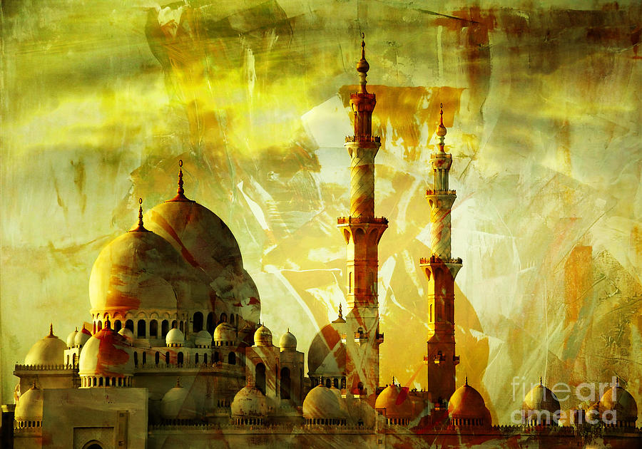 Sheikh Zayed Mosque Painting By Gull G