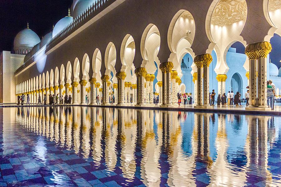 Abu Dhabi Photograph - Sheikh Zayed Mosque Reflections by Yogendra Joshi