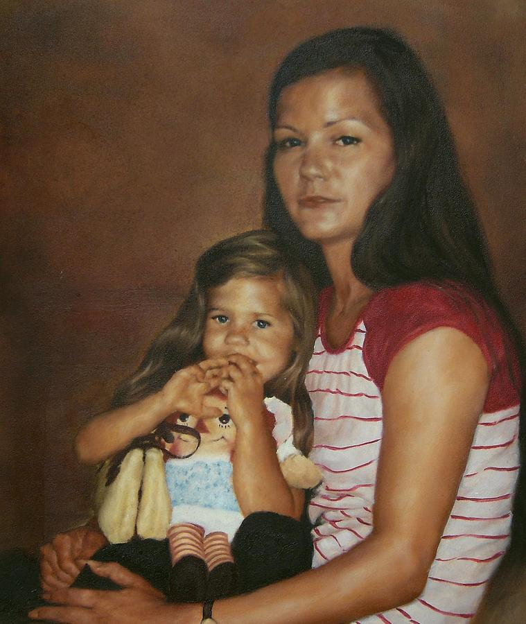 Portrait Painting - Sheila And Nicia by Angela Baggett