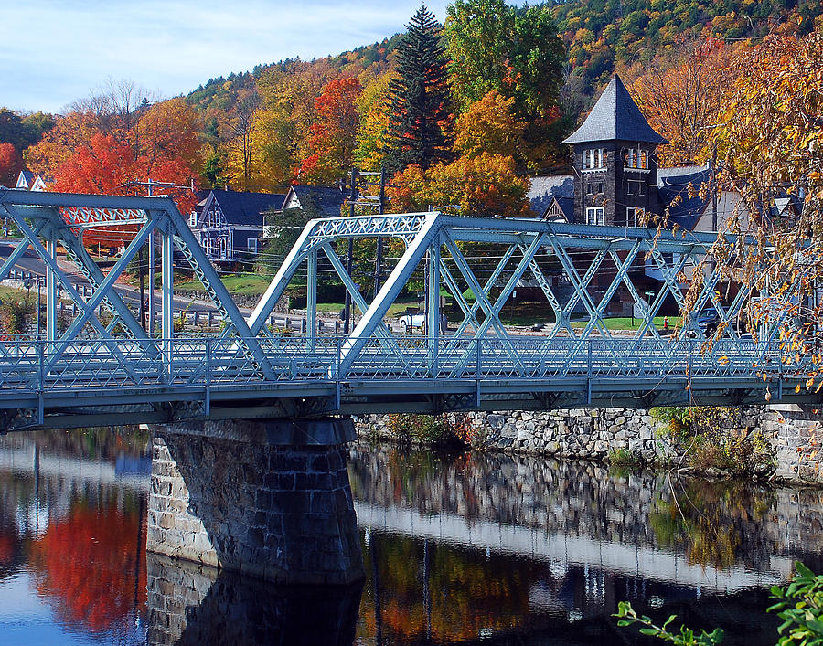Country Photograph - Shelburne Falls by Mark Wiley