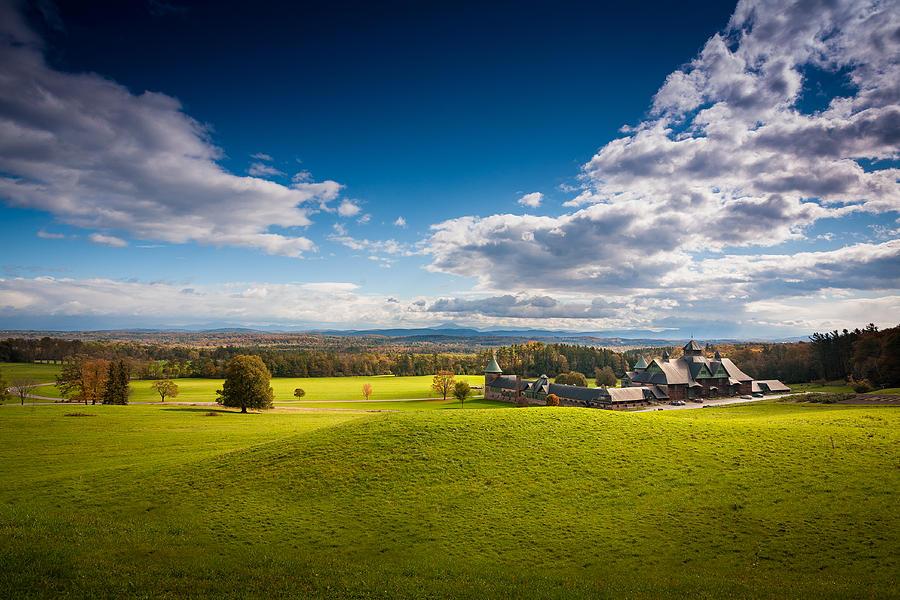 New England Photograph - Shelburne Farm by Robert Davis