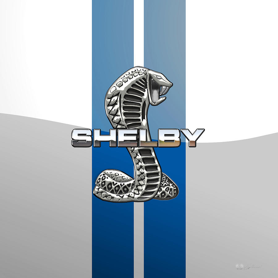 Automotive Photograph - Shelby Cobra - 3D Badge by Serge Averbukh
