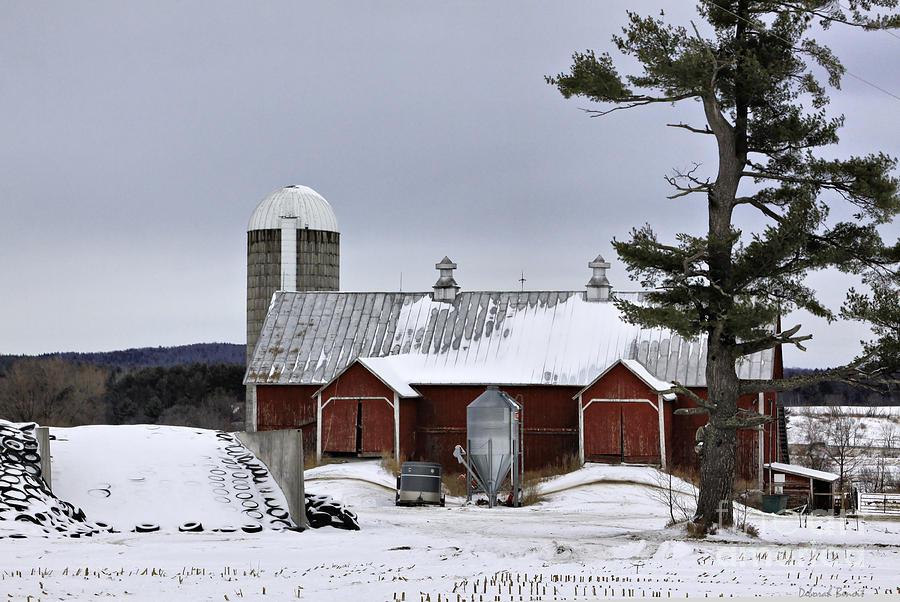 Rural Photograph - Sheldon Barn by Deborah Benoit