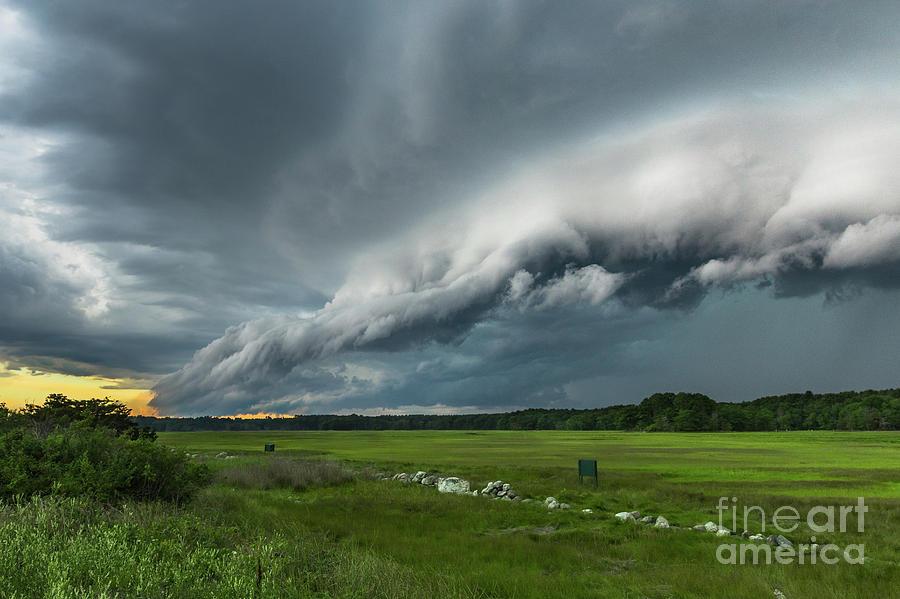 Clouds Photograph - Shelf Cloud by Joshua Blash