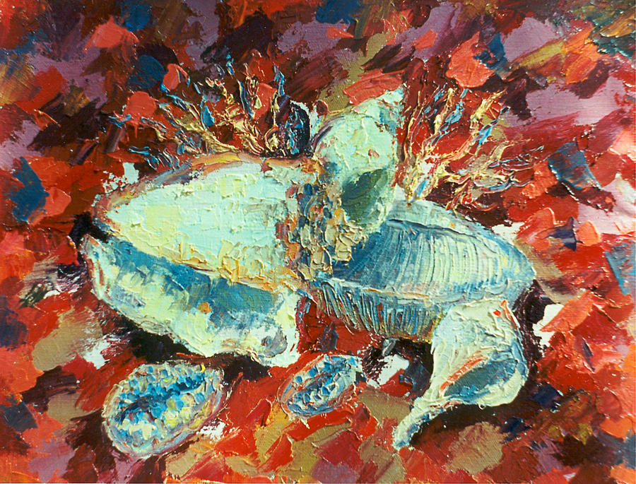Shell Painting by Alexander Bogomazov