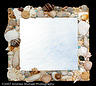 Mirror Glass Art - Shell Mirror by Diane Morizio