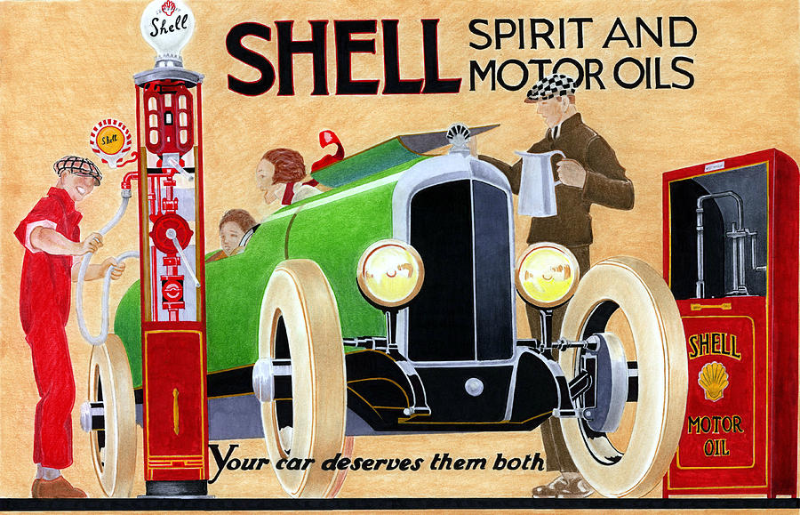 Automobile Mixed Media - Shell Spirit by Lyle Brown