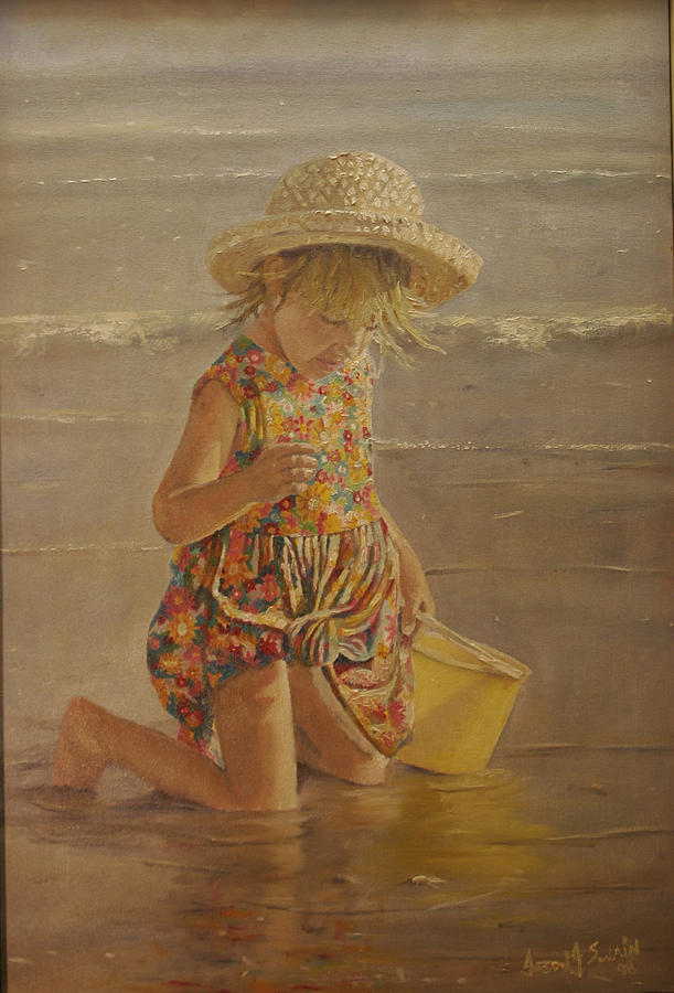 Beach Painting - Shells by Jason  Swain