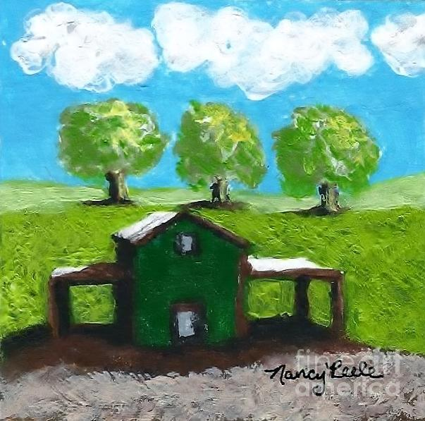 Landscape Painting - Shelter Of The Most High by Nancy Peele