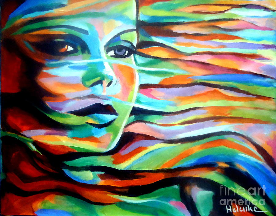 Contemporary Art Painting - Sheltered By The Wind by Helena Wierzbicki
