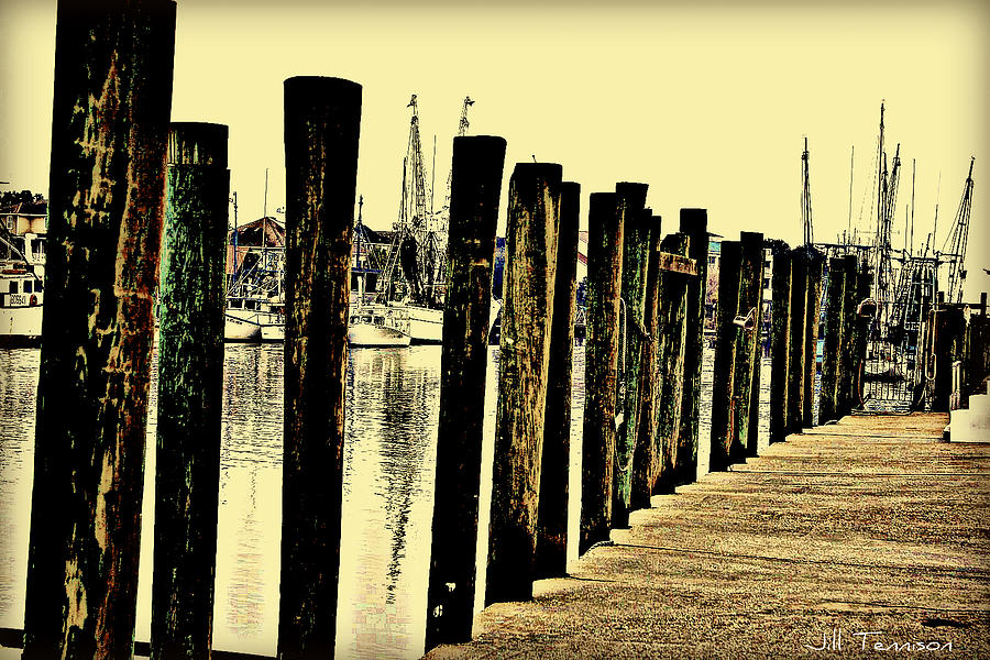 Dock Photograph - Shem Creek Dock by Jill Tennison