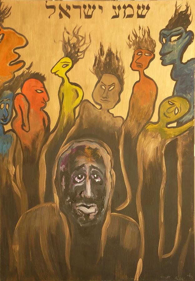 Portrait Painting - Shema Yisrael by Zsuzsa Sedah Mathe