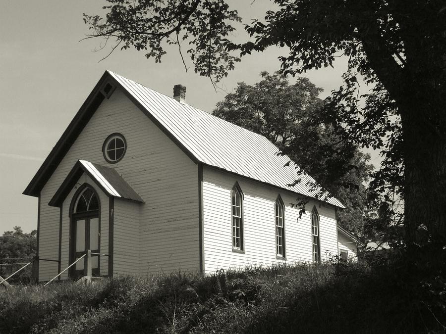Old Church Photograph - Shenandoah Church by Michael L Kimble
