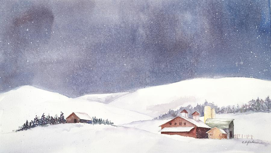 Snow Painting - Shenandoah Valley Snow by Constance Fisher