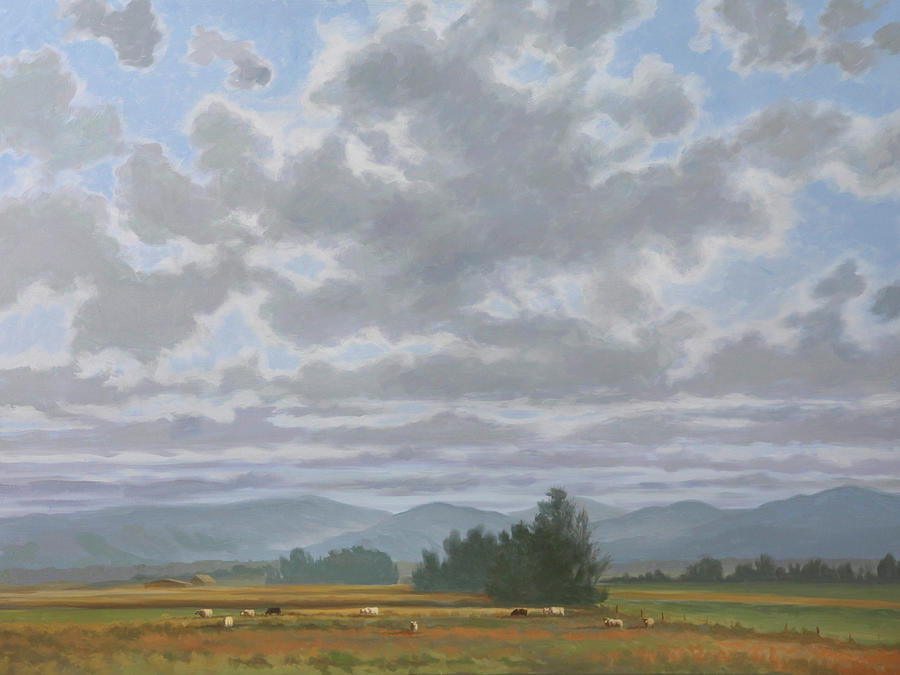 Oil Paintings Painting - Shennandoah Sky by Guy Crittenden