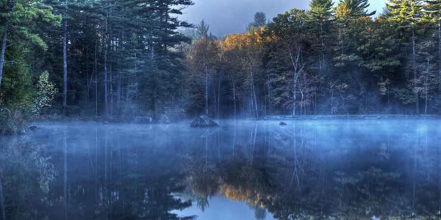 Sheomet Lake Misty Sunrise by John Sandiford