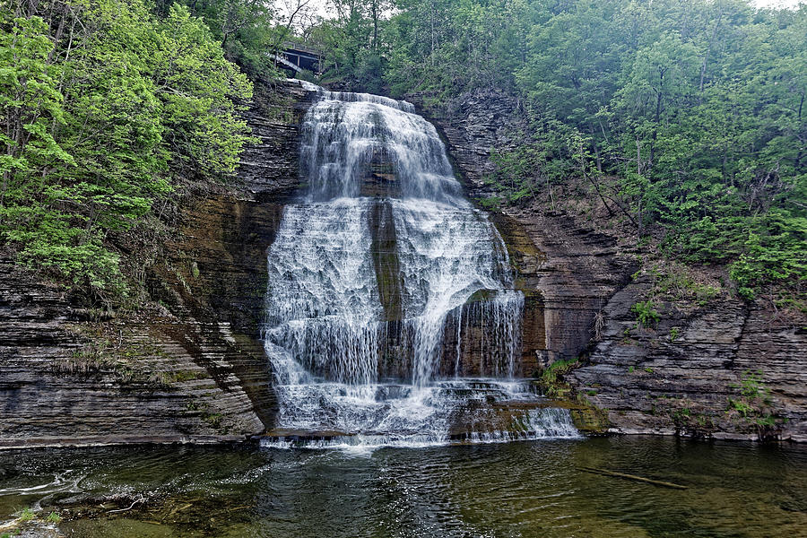 Watkins Glen Photograph - Shequaga Falls by Doolittle Photography and Art