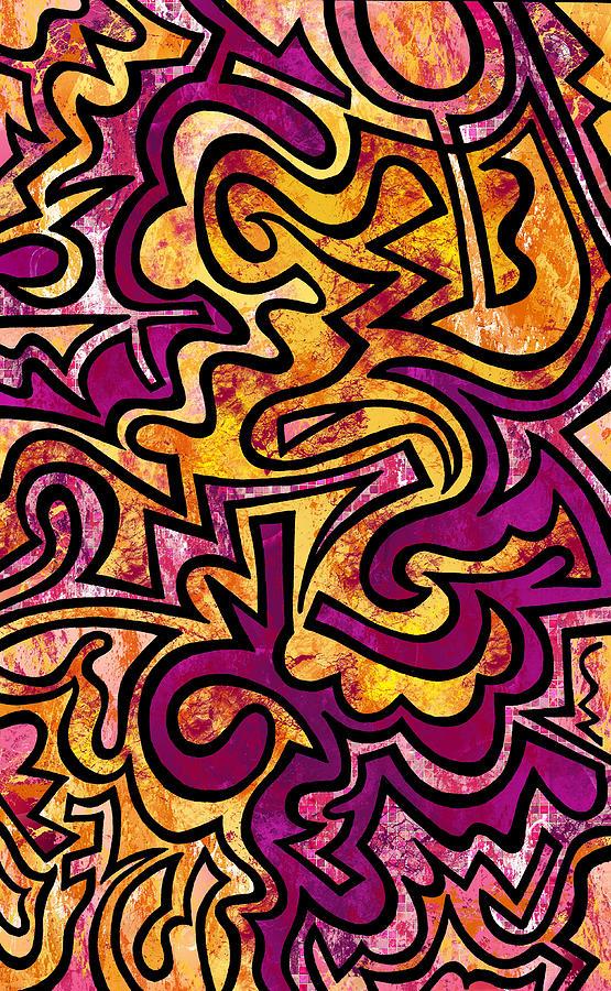 Doodle Digital Art - Sherbert by Kelly Maddern