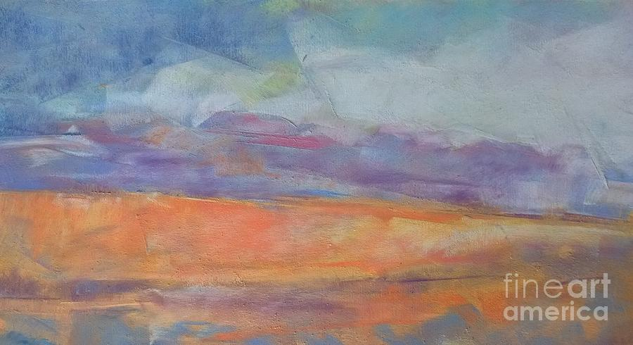 Pastel On Paper Pastel - Sherbert Sands by Lisa Dionne