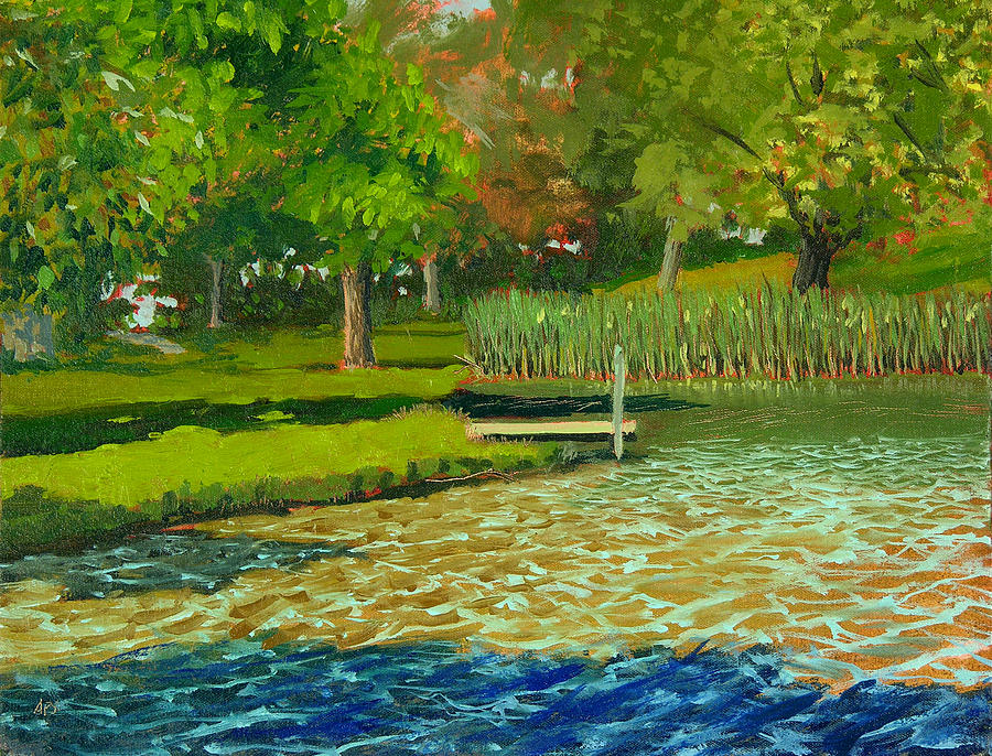Plein Air Painting - Sheridan Park No.4 by Anthony Sell