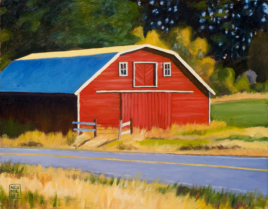 Farm Painting - Sherman Barn by Stacey Neumiller
