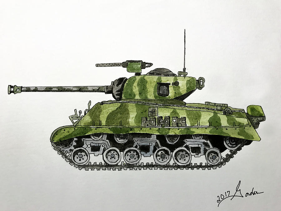 Sherman Tank by Gordan Graham