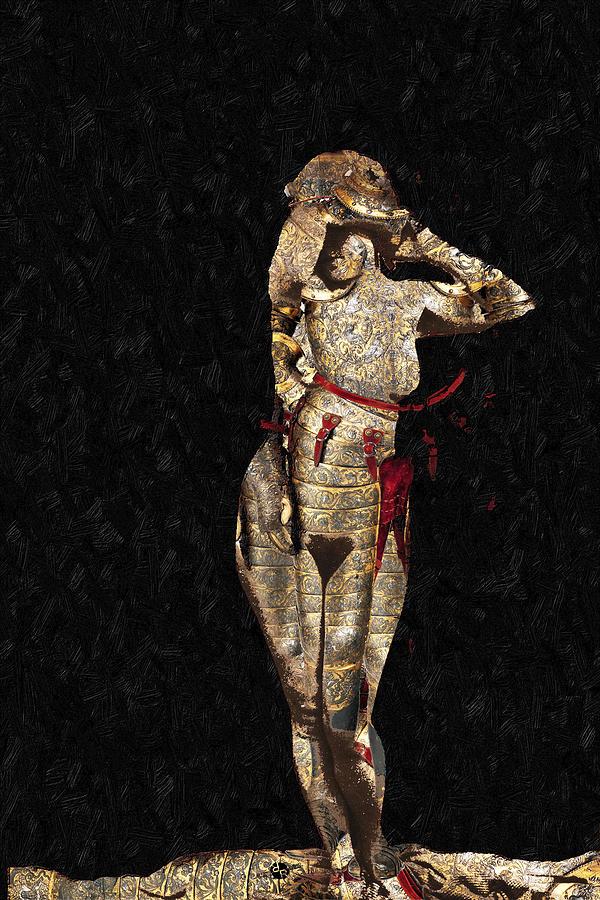 Angel Mixed Media - Shes Made Of Armor by Tony Rubino