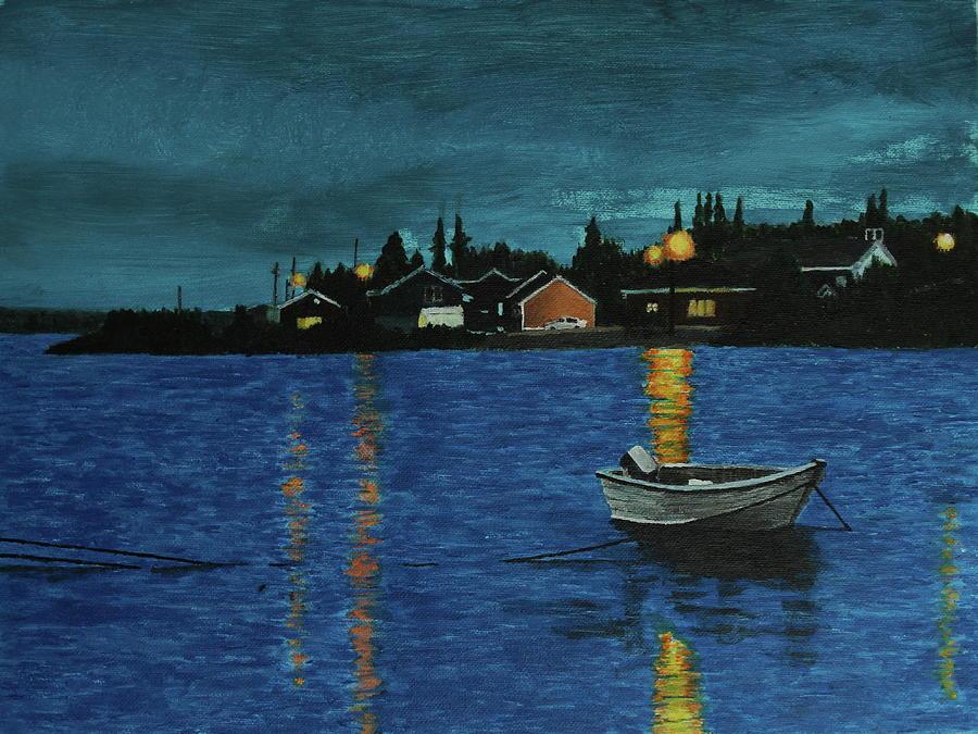 Labrador Painting - Sheshatshiu by Thom Barker