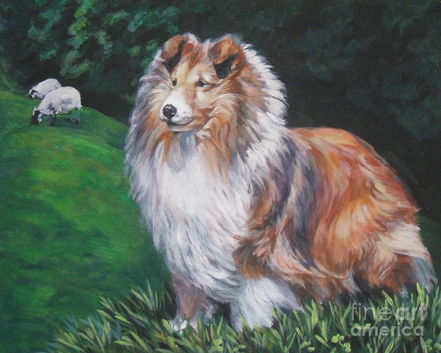 Shetland Sheepdog Painting - Shetland Sheepdog by Lee Ann Shepard